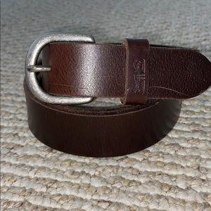 NWOT Levi's Genuine Leather Dark Brown Belt